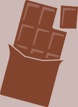 Illustration d'une palette de chocolat